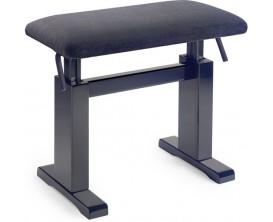 STAGG PBH780 BKM VBK - Banquette piano hydraulique noir mat avec assise velours noir