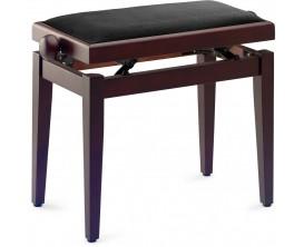 STAGG PB05 RWM VBK - Banquette Piano Palissandre Mat avec Pelote en Velours Noir