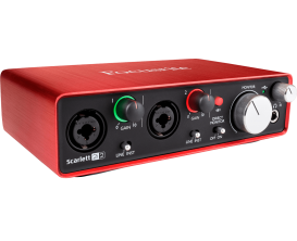 FOCUSRITE Scarlett 2 2i2- Interface audio 2 in / 2 out (Inclus Pro Tools First et 12 Plugins)