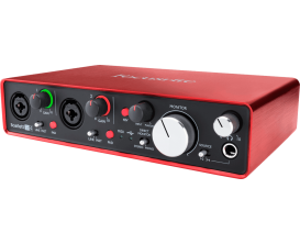 FOCUSRITE Scarlett 2 2i4 - Interface audio 2 in / 4 out (Inclus Pro Tools First et 12 Plugins)