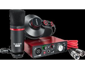 FOCUSRITE Scarlett 2 Solo-Studio - Pack enregistrement, Interface audio Solo + micro studio + casque