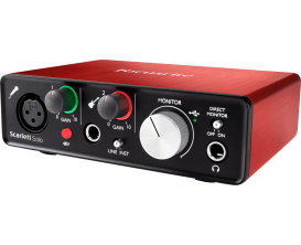 FOCUSRITE Scarlett 2 SOLO - Interface audio Solo 2 In / 2 Out (Inclus Pro Tools First et 12 Plugins)