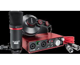 FOCUSRITE Scarlett 2 STUDIO - Pack enregistrement, interface audio 2i2 + casque + micro studio
