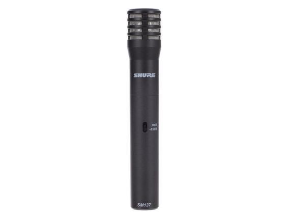 SHURE SM137-LC - Micro condensateur petit diaphragme pour Overhead / instruments acoustiques
