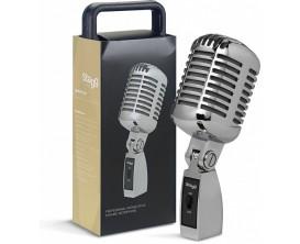 STAGG SDM100 CR - Microphone dynamique cardioïde de style vintage, modèle professionnel, cellule DC04