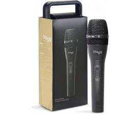STAGG SDM80 - Microphone dynamique cardioïde, cellule DC26 (avec câble 5m)