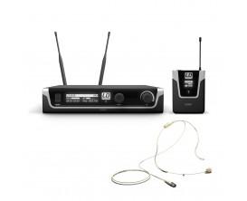 LD SYSTEMS U508 BPHH - Système micro sans fil avec émetteur ceinture et micro serre-tête (Couleur Beige)