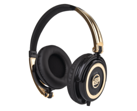RELOOP RHP-5 Gold Rush - Casque DJ fermé compact, Finition Gold Rush
