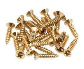 FENDER 0994924000 - Pickguard/Control Plate Mounting Screws (24) (Gold)