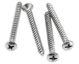 FENDER 0994948000 - Neck Mounting Screws (4) (Chrome)