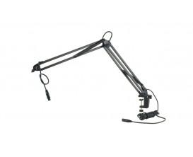K&M 23850 - Support micro articulé de table, noir