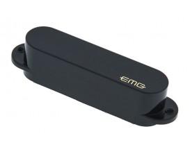 EMG SA - Micro simple actif pour strat, aimants Alnico, noir