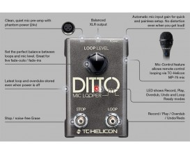 TC ELECTRONIC Ditto Mic Looper - Looper XLR pour voix*