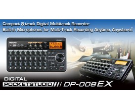 Tascam DP-008EX - Ultra-compact 8-track Pocketstudio