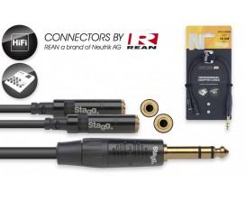 STAGG NYA010/PS2MJSR Câble en Y 10 cm jack stéréo M / 2x mini jack stéréo F*