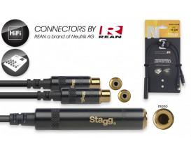 STAGG NYA010/J2CFR Câble en Y 10 cm jack mono F / 2x Cinch (RCA) F *