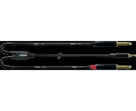 CORDIAL CFY3WPP - Câble Mini Jack Stéréo/2X Jack Mono 3m
