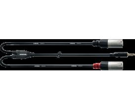 CORDIAL CFY3WMM - Câble Mini Jack Stéréo/2X XLR Male 3m