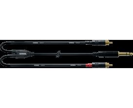 CORDIAL CFY0.9VCC - Câble Jack Stéréo/2X RCA 90cm