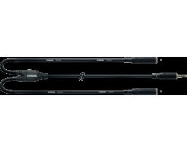 CORDIAL CFY0.3WYY - Câble Mini Jack Stéréo/2X Mini Jack Stéréo Femelle 30cm