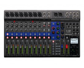 ZOOM L-12 - Table de mixage. Enregistreur sur carte SD. Interface son