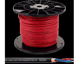 CORDIAL CMK222RED/100M - Bôbine de câble micro pro, rouge, section 2x0.22mm², longueur 100 m