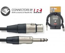 STAGG NAC3PSXFR - Câble audio 3m - XLR f / jack stéréo, série N *