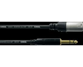 CORDIAL CFM3MV - Câble XLR Male/ Jack Male Stéréo 3m