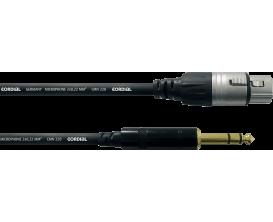CORDIAL CFM1.5FV - Câble XLR Femelle/ Jack Male Stéréo 1,5m