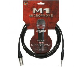 KLOTZ M1MS1K0300 - Audio Frequency Câble XLR Mâle / Jack TRS Mâle - 3 m