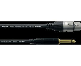 CORDIAL CPM2.5FP - Câble XLR femelle/Jack mâle mono - 2.5m