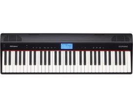 ROLAND GO-61P BK - GO: PIANO, Clavier arrangeur compact d'études 61 touches type piano, Bluetooth, Noir