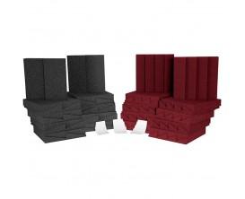 AURALEX D36 ROOMINATOR KIT (CHARCOAL / BURGUNDY) - Kit de 36 panneaux mousses pour correction acoustique studio (18 x DST112 + 1