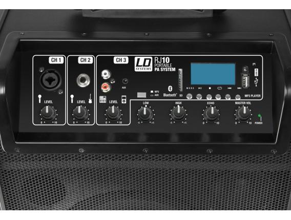 """LD SYSTEMS RJ10 - Road Jack 10"""", enceinte multimédia portable sur Batterie, Carte SD, usb et bluetooth"""