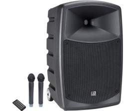 LD SYSTEMS ROADBUDDY 10 HHD2 - Sono portable sur batterie, lecteur multimedia USB SD, 2 Micros HF main fournis, 120 w RMS, HP 10