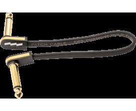 EBS - PCF-PG 28 - Flat Patch Cable 28 cm, jacks coudés, placage or 24 carats