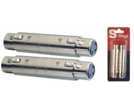 STAGG AC-XFXFH - Adaptateur XLR fem/ XLR fem - 2 pcs sous blister