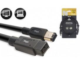 STAGG NCC1,5FW8FW6 - Câble adaptateur Firewire 800 / Firewire 400, série N, 1,5m*