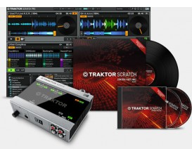 NATIVE INSTRUMENTS Traktor Scratch A6 MKII - Set avec Interface Traktor Audio 6 + 2 Vinyl et 2 CD timecodés
