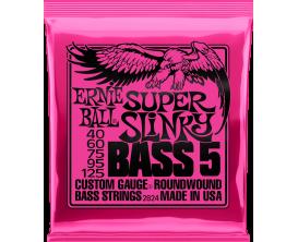 ERNIE BALL 2824 - Jeu de cordes basse 5c Super Slinky Bass 5 40/125