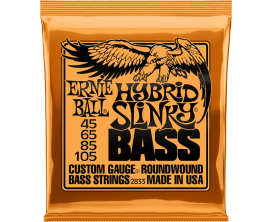 ERNIE BALL 2833 - Jeu de cordes basse 4c Hybrid Slinky Bass 45/105