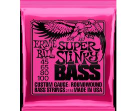 ERNIE BALL 2834 - Jeu de cordes basse 4c Super Slinky Bass 45/100