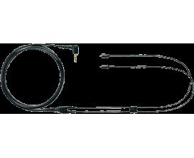 SHURE EAC64BK - Câble de remplacement détachable pour In Ear Shure SE215, SE315, SE425, SE535, 176cm, noir