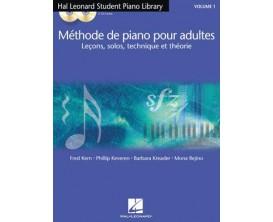 LIBRAIRIE - Méthode de Piano pour Adultes (leçons, solos, technique et théorie, avec CD) Vol. 1 francais - F. Kern P. Keveren B.
