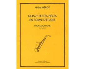LIBRAIRIE - 15 petites pièces en forme d'études - Michel Mériot - Ed. Combre