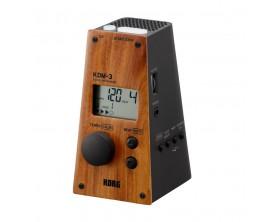 KORG KDM-3WD BK - Métronome numérique, 8 sonorités, look métronome mécanique, Finition Bois / Noir, édition limitée