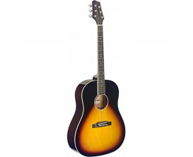 STAGG SA35 DS-VS - Guitare Dreadnought acoustique, Slope Shoulder, Vintage Sunburst