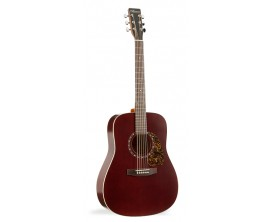 NORMAN B18 Burgundy - Guitare Dreadnought Acoustique, Table cèdre, Burgundy (sans housse)