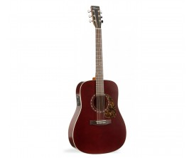 NORMAN B18 Burgundy Presys - Guitare Dreadnought électro-acoustique Fishman Presys, Table cèdre, Burgundy (sans housse)