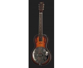 "PARAMOUNT Little Wing AB - Resonator format parlor, corps acajou, Cône 9.5"", finition Antique Burst"